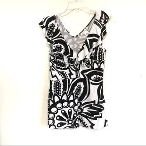 White House Black Market floral print top